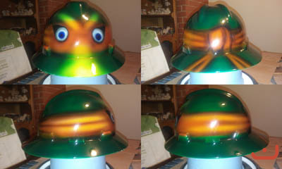 Custom hard hat mutant ninja turtles