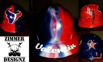 Custom Houston Teams hard hat