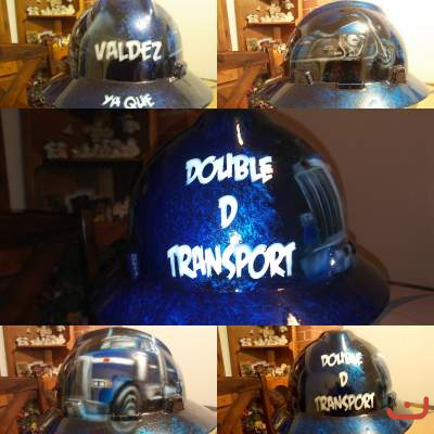 custom painted hard hat double d transport