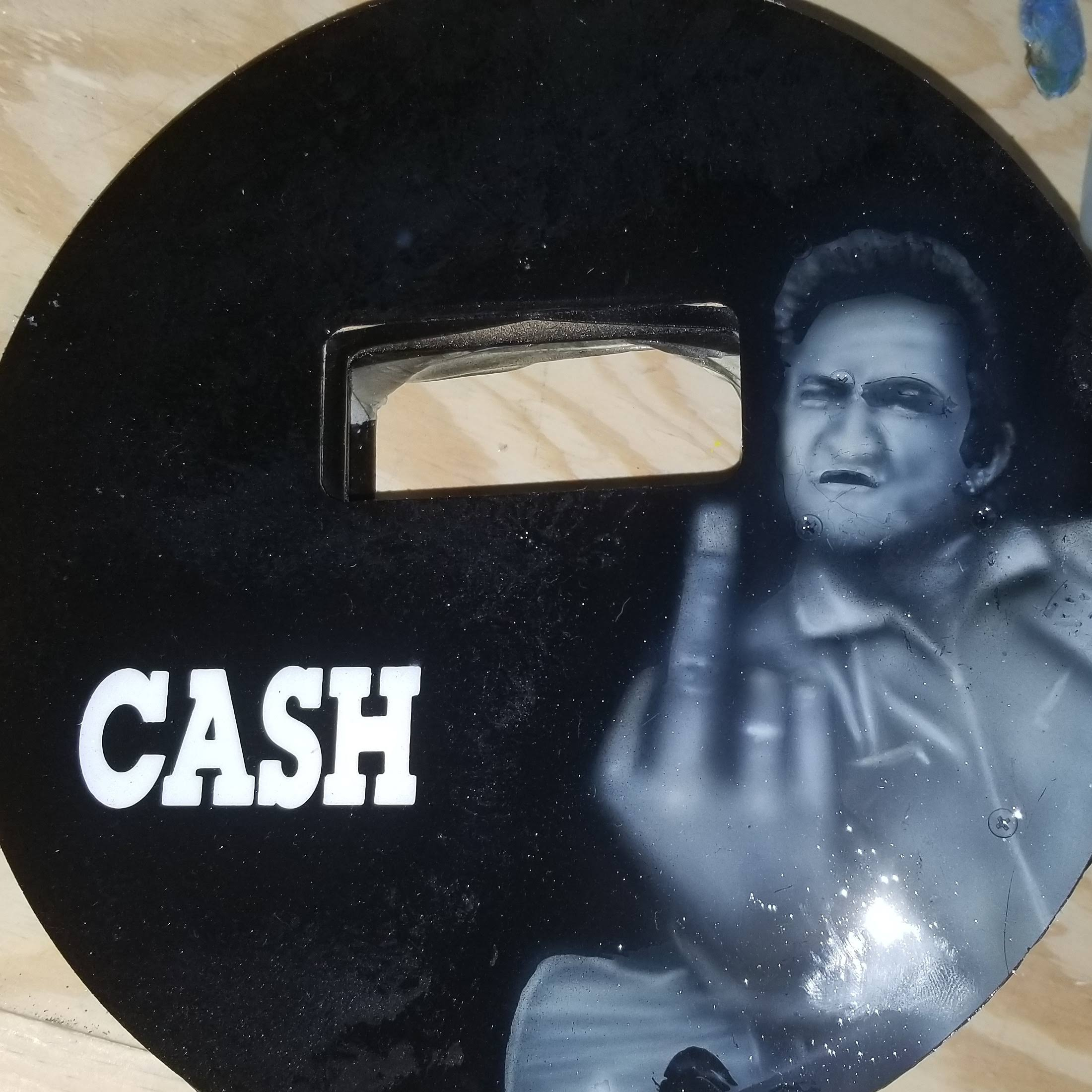 wendys pancake hood painted with johnny cash the main in black