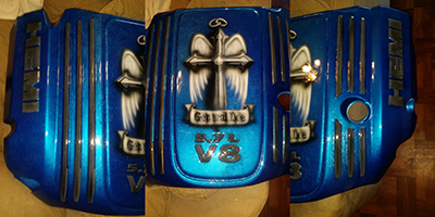 charger engine cover custom painted