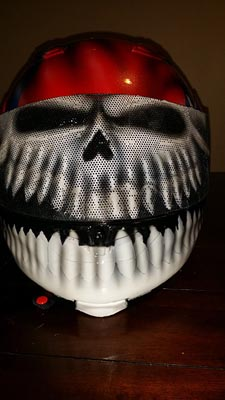 Confederate rebel glas skull motorcycle helmet
