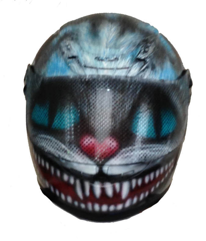 cheshire cat motorcycle helmet