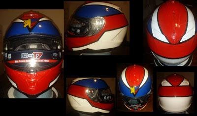 custom painted motorcycle helmet