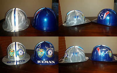custom firefighter helmet houston texans dallas cowboys