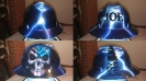 custom paitned hard hat skulls and lightning
