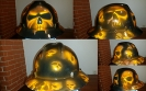 Skulls hard hat in orange
