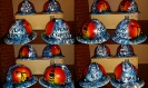 custom blue oilfield hard hat