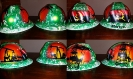 Green BP Angola painted hard hat
