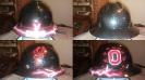 Custom painted hard hat Ohio Buckeyes_1
